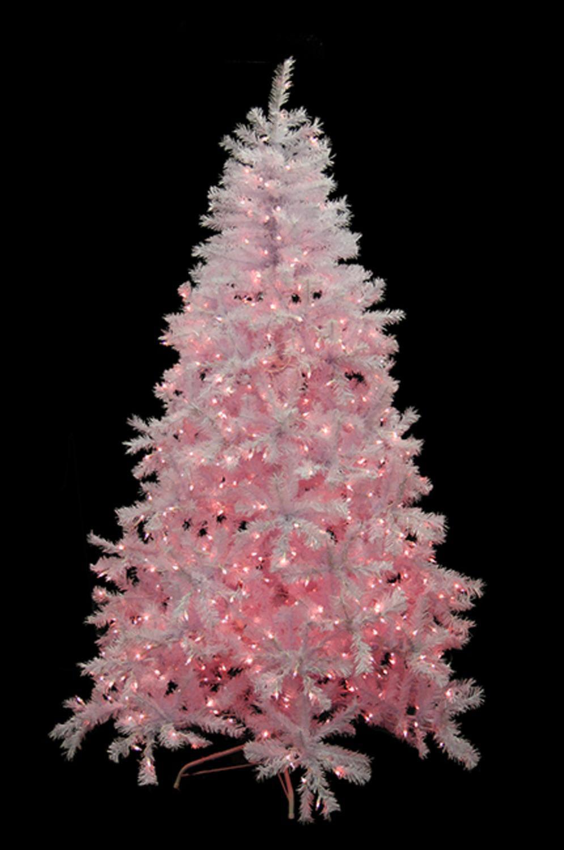 75 pre lit white cedar pine artificial christmas tree pink lights walmartcom - Pink Christmas Tree Lights