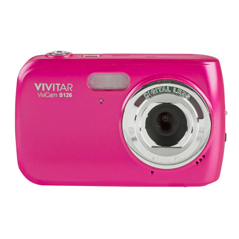 "Vivitar VS126-PNK 16.1MP Digital Camera with 1.8"" Preview Screen Pink"