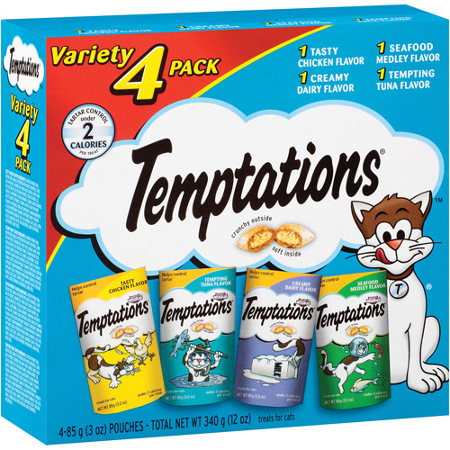 Temptations Variety 4 Pack Treats for Cats, 3 oz, 4 count