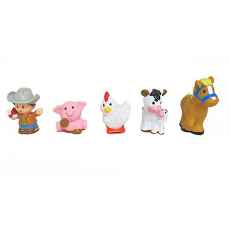 Fisher-Price Little People Animal Friends Farm - Replacement Figures DWC31 (Fisher Price Little People Marvel)
