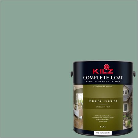 KILZ COMPLETE COAT Interior/Exterior Paint & Primer in One #RG230-02 Winchester Green - Green Chalkboard Paint