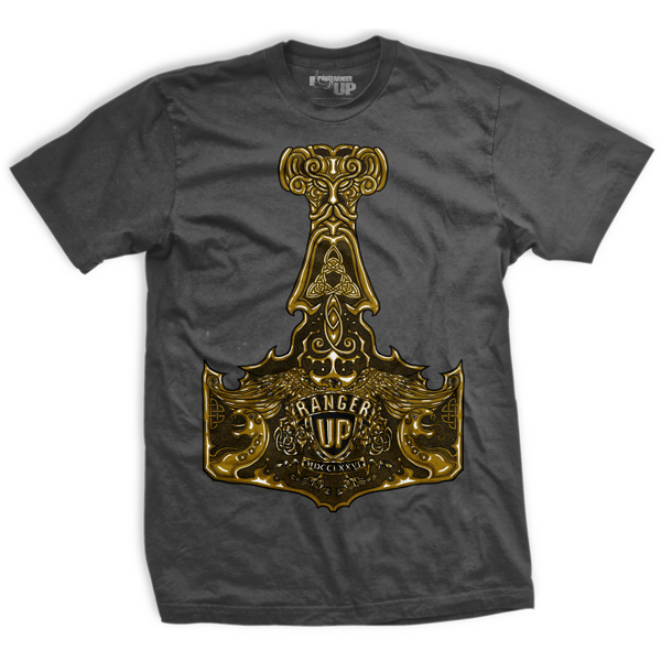 Ranger Up Thor's Hammer T-Shirt - Gray