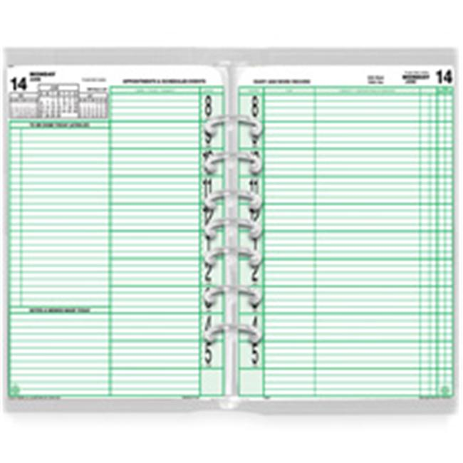 Day-timer DTM94010 Calendar Refill- Jan-Dec- Original- 2PPD- 8-. 50inchx11inch