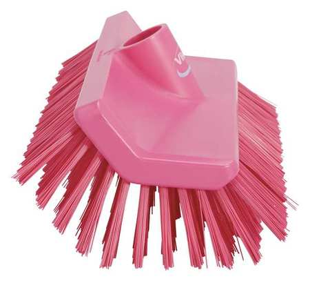 VIKAN 70471 High Low Brush, Pink, 1-1/2 Trim L, PET