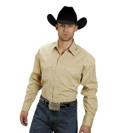 Stetson Western Shirt Mens L/S Matte Snap Gold 11-001-0465-0032 YE