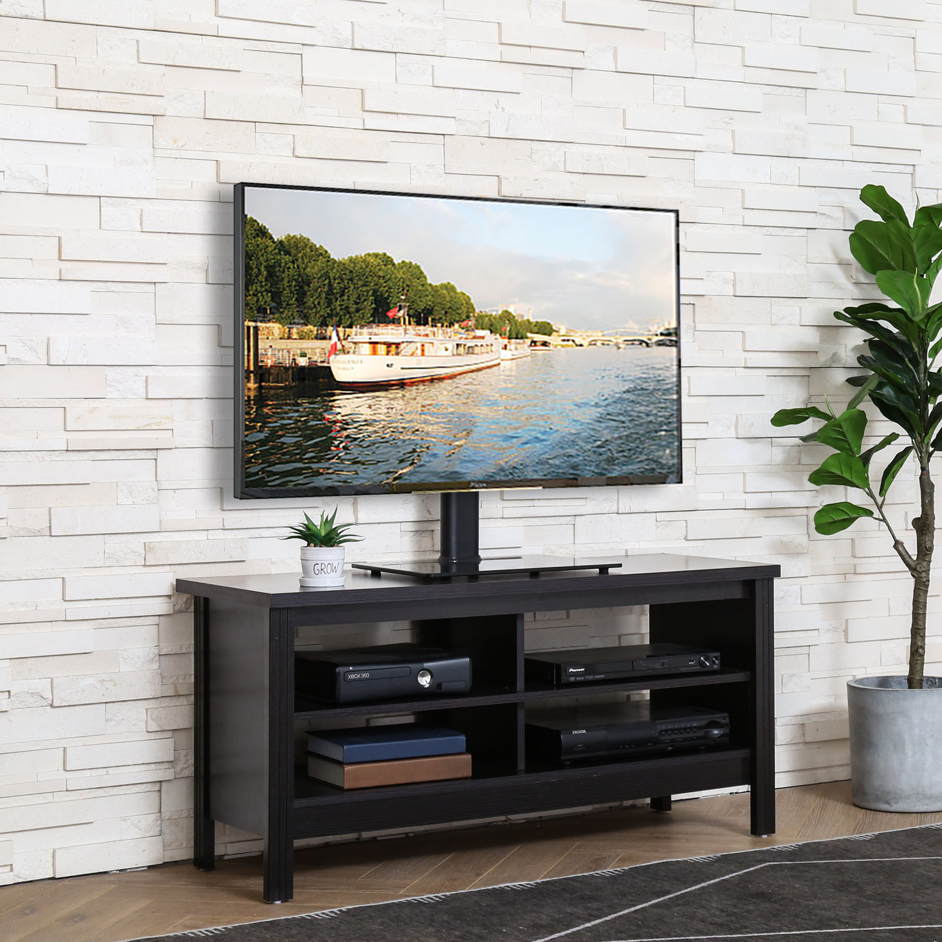 Farmhouse TV Stand for 55 inch TV Entertainment Center ...