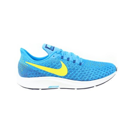 af83b938a64 Nike Men s Air Zoom Pegasus 35 Blue Orbit   Bright Citron Ankle-High Mesh  Running ...