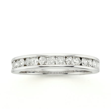 Image of Always & Forever Platinaire 1/2 Carat T.W. Diamond Wedding Band