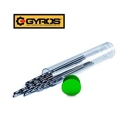 1-Piece 13.8mm Black Oxide Coated Gyros 45-42134 Premium Industrial Grade High Speed Steel Jobbers Length 118-Degree Point Metric Drill Bit