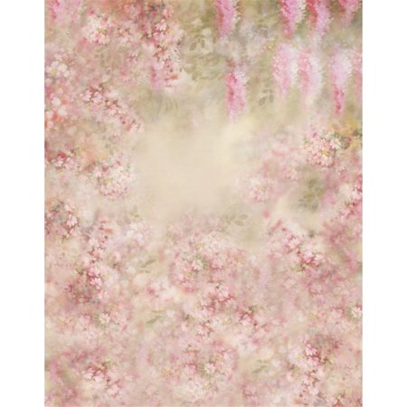 HelloDecor Polyester Fabric 5x7ft Photography Backdrop Pink Flowers Newborn Photography Background for Studio Baby Shower Photo Studio Props