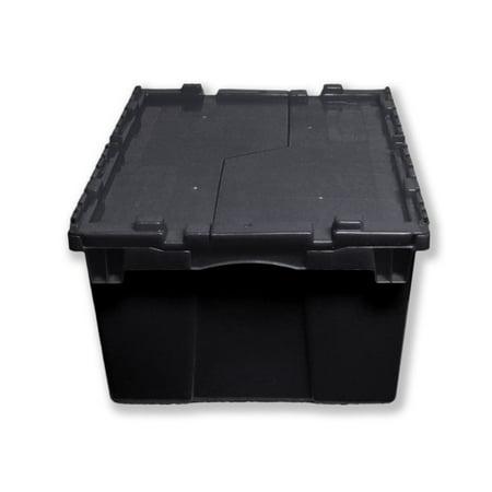 Farm Plast LLC Heavy-Duty Attached-Lid Plastic Totes, 3 -