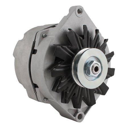 New Alternator for 3.0L (181) V6 OLDSMOBILE 98 85 1985 1105700, 1105513, 1105595, 12Clock 108Amp External Fan Type Solid Pulley Type Internal Regulator CW Rotation 12V