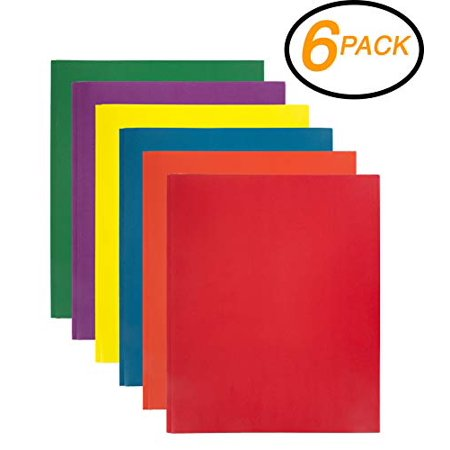 2 Pocket Folders Bulk (Emraw 2 Pocket with Three Prong Fastener File Portfolio Folder – Used for Papers, Loose-Leafs, Business Cards, Compact Discs, Etc.)