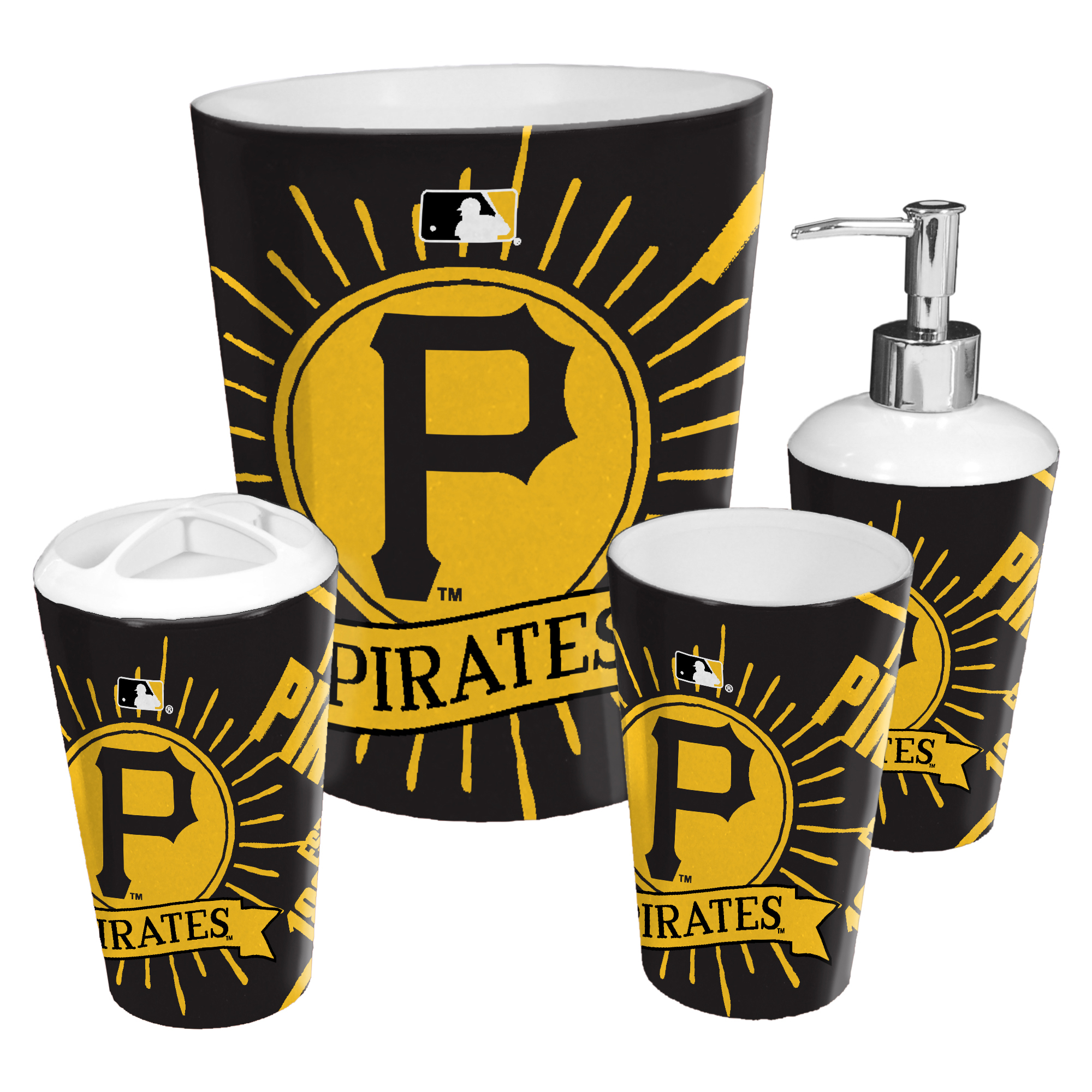 Pittsburgh Pirates The Northwest Company 4-Piece Bath Set - No Size