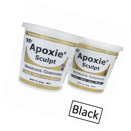 Aves - Apoxie Sculpt 4 Lb. (Black) Self-hardening synthetic clay, 2 part product