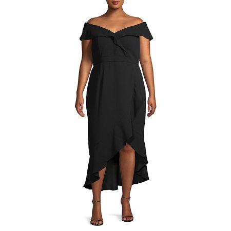 Plus Ruffled Sheath Dress