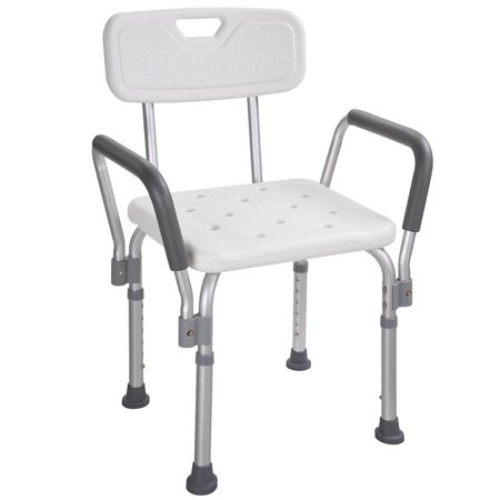 Bath Tub Replacement Shower - Medical Bath Shower Seat Adjustable Height Bathtub Bench Chair Stool w/ Armrest Back For Safety Support
