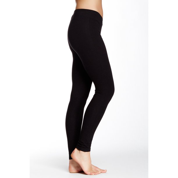hue new black women's size xl elastic-waist stretch legging solid pants deal
