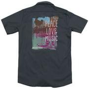 Woodstock Plm (Back Print) Mens Work Shirt