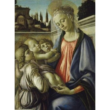 Madonna and Child Sandro Botticelli (1444-1510Italian) Museo de Capodimonte Napoli Canvas Art - Sandro Botticelli (24 x 36)