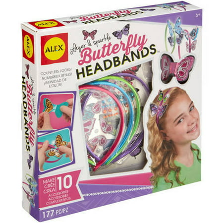 ALEX Toys Do-It-Yourself Wear Layer and Sparkle Butterfly Headbands - Diy Headband Kit