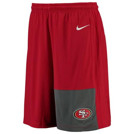 Nike San Francisco 49ers Dri-FIT Fly Shorts - Scarlet ()