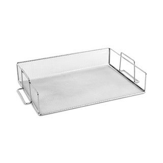 Steel Mesh Stackable (YBMHome 2303 Mesh Stackable Paper Tray In Silver )