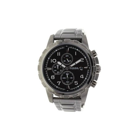 Fossil Set Wrist Watch - Fossil The Dean Chronograph Mens Wrist Watch w/Black Stainless Steel Band & Face