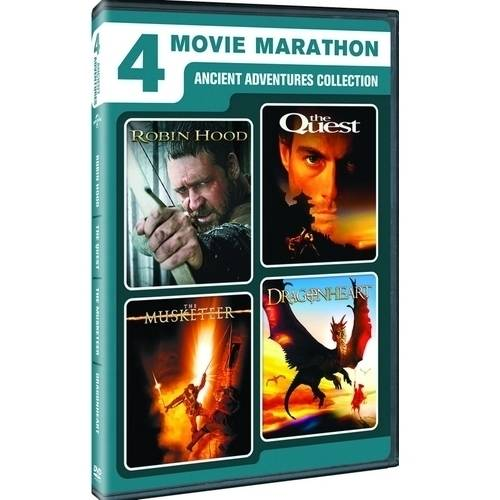 4 Movie Marathon: Ancient Adventure Collection - Robin Hood / The Quest / The Musketeer / Dragonheart