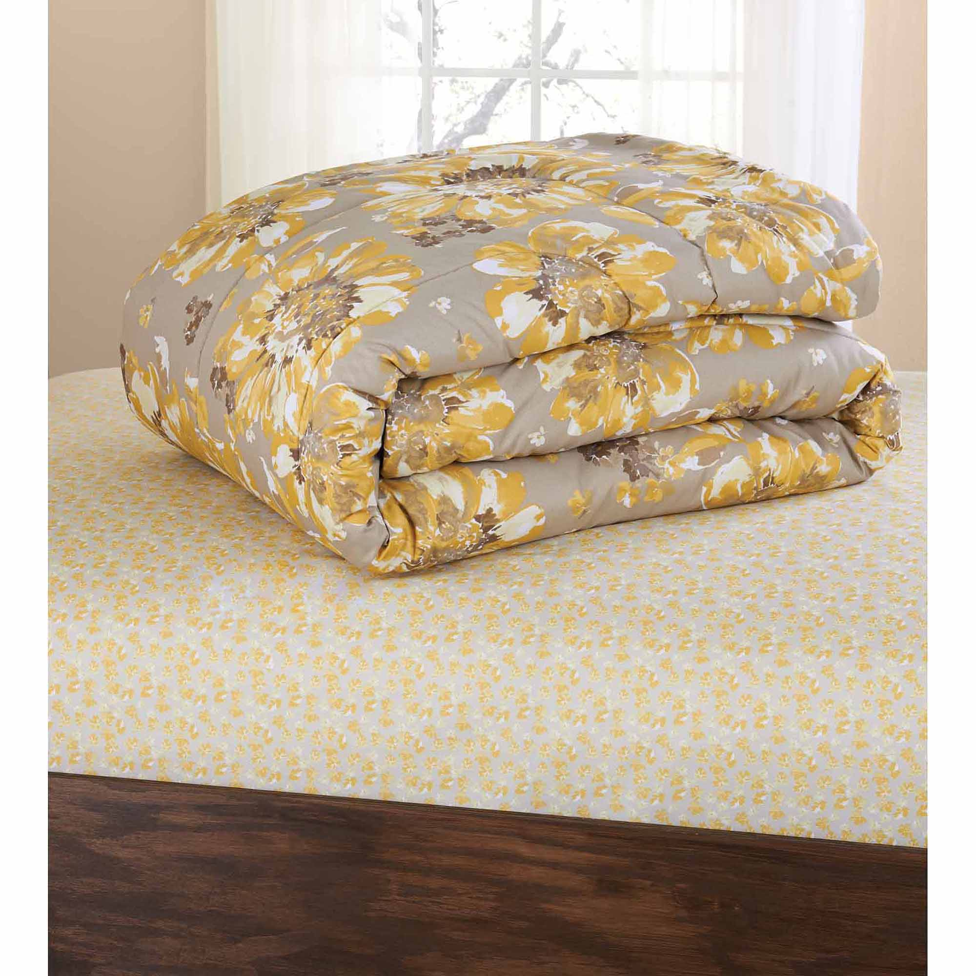 Mainstays Floral Bed in a Bag Coordinated Bedding Set
