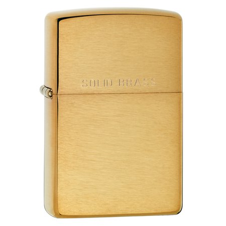 Zippo Pipe Lighter: Solid Brass - Brushed Brass 204PL ()