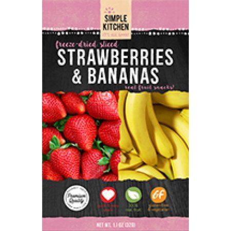 (2 Pack) Wise Company Freeze-Dried Sliced Fruit, Strawberry & Bananas, 4.6 (Best Freeze Dried Food Company)