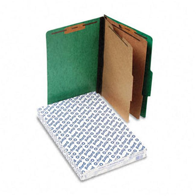Pressguard Glassification Folders  Legal  6-Section  Green  10/box
