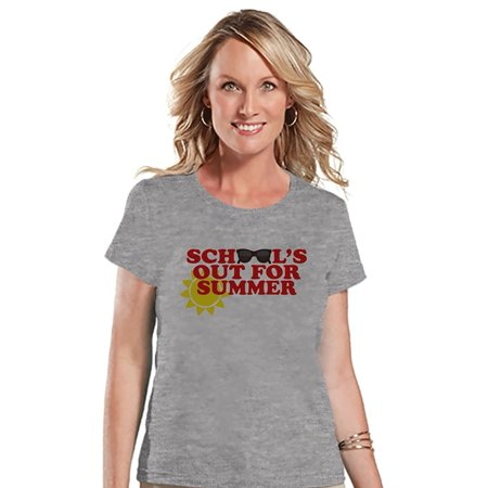 a2218a72bc3 Custom Party Shop - Custom Party Shop Womens School s Out For Summer T-shirt  - Large - Walmart.com