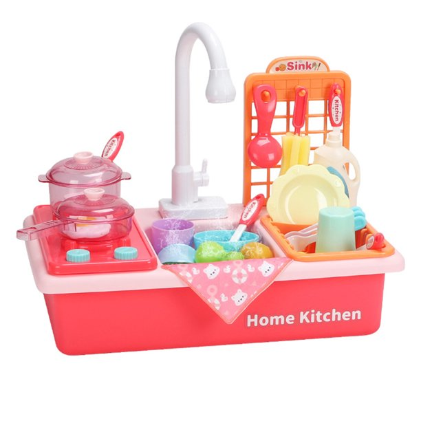 kitchen sink toys dishwasher playing toy with running water automatic faucets play house pretend role play toys for kids