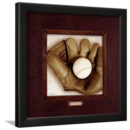 Vintage Baseball Framed Print Wall Art By Sam Appleman - Walmart.com