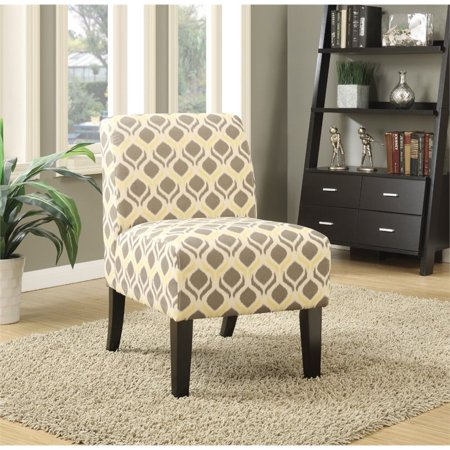 Bowery Hill Accent Chair in Gray and Yellow ()
