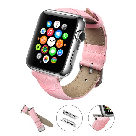 Apple Watch Band, LoHi Watch Strap Replacement with Metal Clasp for iWatch 38mm Pink ()