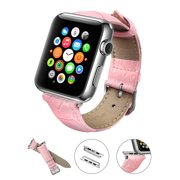 Apple Watch Band, LoHi Watch Strap Replacement with Metal Clasp for iWatch 38mm Pink