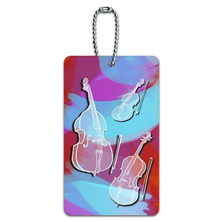 Graphics and More String Instruments Band Orchestra Violin Cello Bass ID Card Luggage Tag