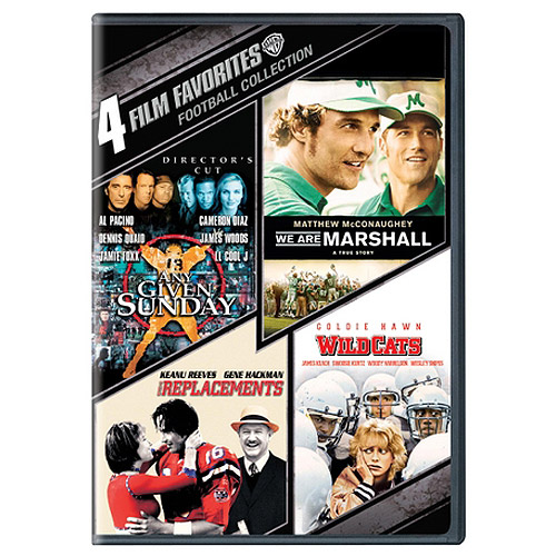 4 Film Favorites: Football Collection - We Are Marshall / Any Given Sunday / The Replacements / Wildcats  (Widescreen)