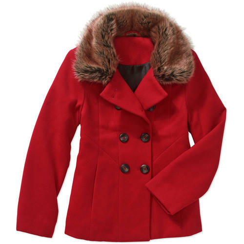 George Girls' Short Wool Double Breasted Peacoat