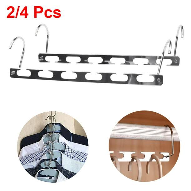 2PC Space Saver Closet Organizer Storage Coat Clothes Hanger Magic Hook Metal IB