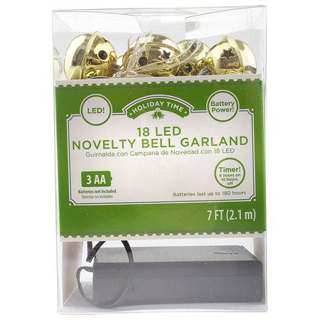 18 ct Gold Bell Garland LED System
