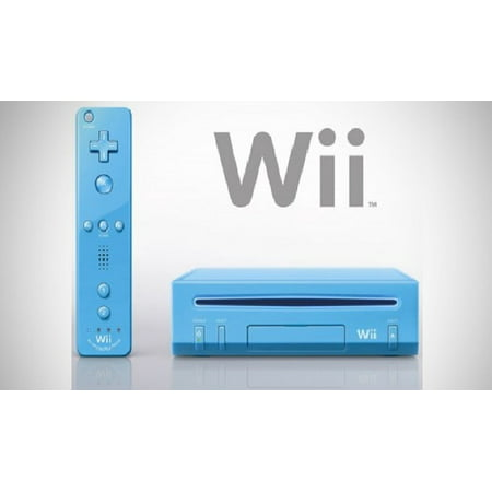 Blue Nintendo Wii (Refurbished Nintendo Wii Blue)