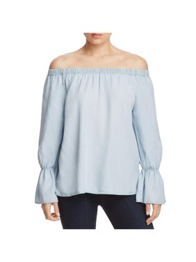 b81fce5cb6e6f Product Image Sanctuary Womens Charlotte Chambray Off-The-Shoulder Casual  Top