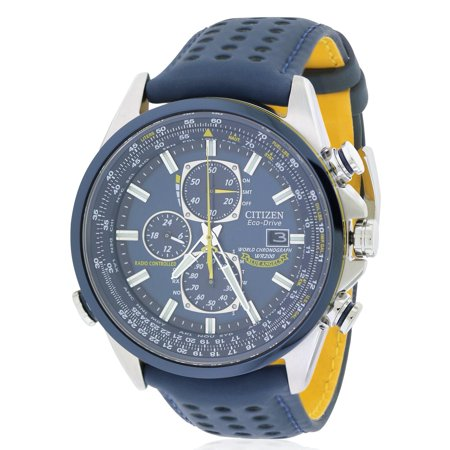 Citizen Eco Drive Blue Angels Chronograph Atomic Mens Watch  At8020 03L