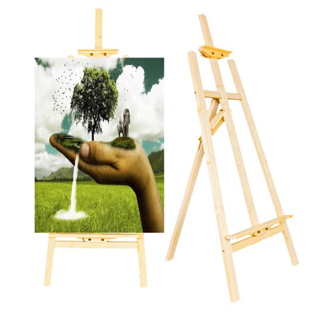 Ktaxon New 5ft Durable Artist Stand Floor Drawing Spruce Wooden Easel, Table Top Easel For Sketching Painting Display And Artist Student, Wood Color](Wooden Easel Stand)