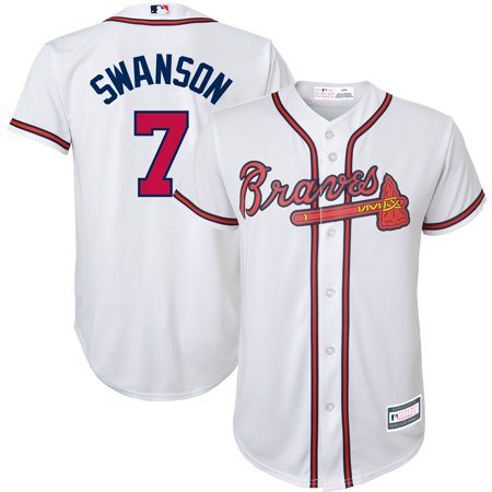 Braves Youth Replica Jersey - Dansby Swanson Atlanta Braves Youth Replica Player Jersey - White