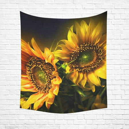 CADecor Sunflower Home Decor Tapestry Wall Art 60x80 Inches